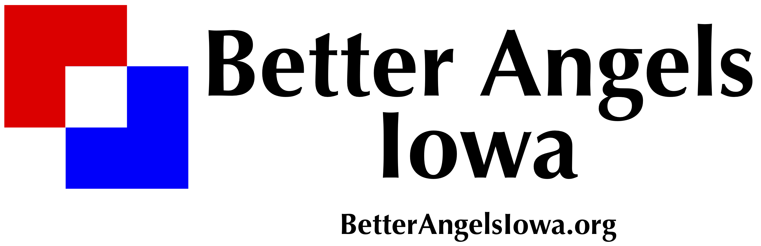 Better Angels Iowa Logo 2 White