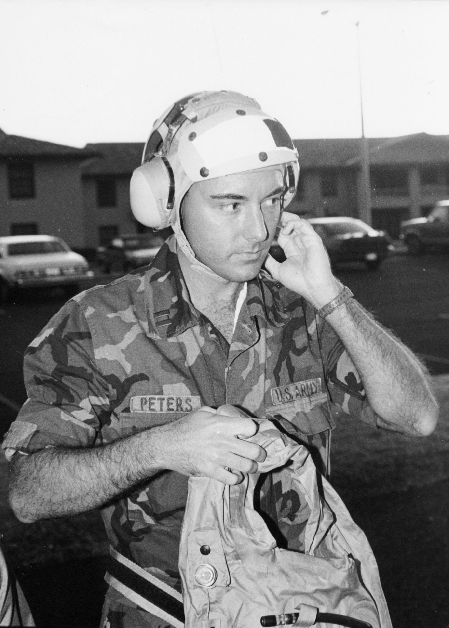 About to board a helicopter to retrieve a fellow surgical resident on Kauai, 1993.