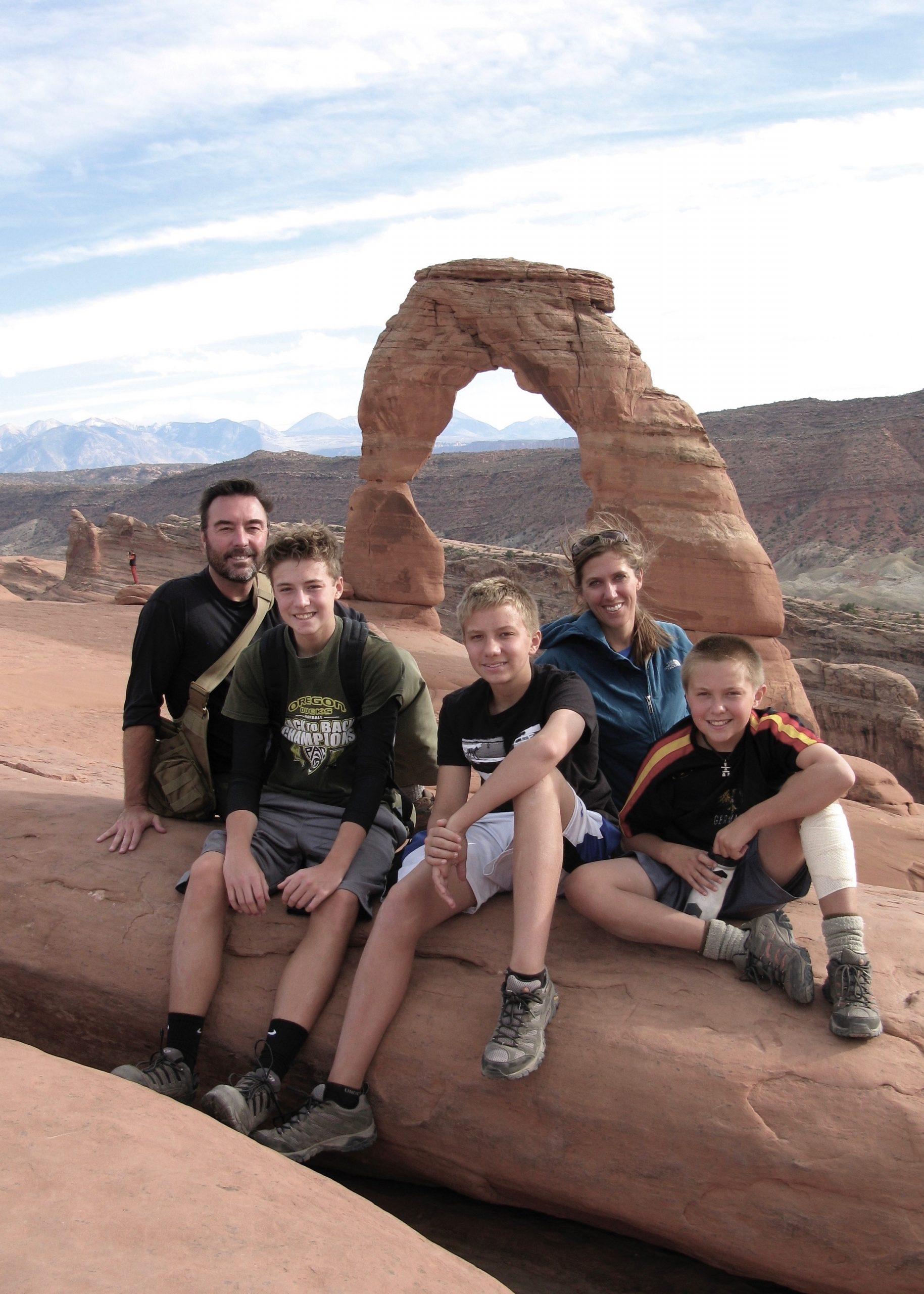 At Arches National Park, 2012.
